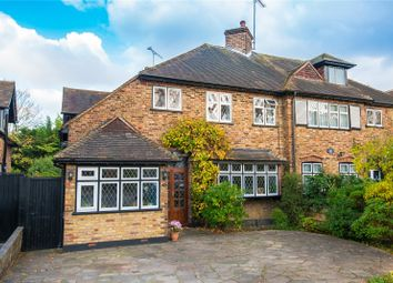 Thumbnail 3 bed semi-detached house for sale in Powell Close, Edgware, Middlesex