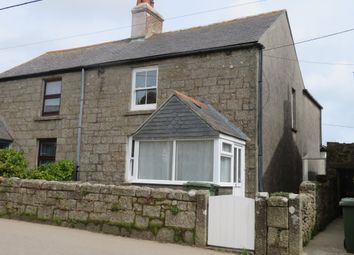 Thumbnail 2 bed semi-detached house for sale in Lands End Road, St. Buryan, Penzance