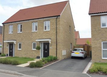 Thumbnail 2 bed semi-detached house for sale in Barbastelle Crescent, Hethersett, Norwich