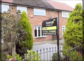Thumbnail 3 bed terraced house to rent in Ebor Close, Longhill, Hull, East Yorkshire
