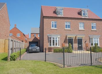 Thumbnail 3 bedroom semi-detached house for sale in William Spencer Avenue, Sapcote, Leicester