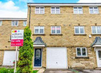 Thumbnail 3 bed town house for sale in Highcliffe Court, Shelf, Halifax