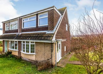 Thumbnail 3 bed semi-detached house for sale in Keswick Close, Loxley, Sheffield, South Yorkshire