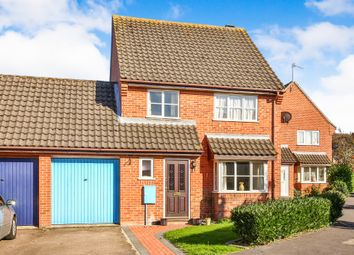 Thumbnail 3 bed link-detached house for sale in Pages Close, Wymondham