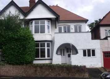 Thumbnail 4 bed semi-detached house to rent in Rotton Park Road, Edgbaston, Birmingham