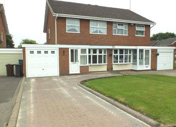 Thumbnail 3 bed semi-detached house to rent in Binley Close, Shirley, Solihull