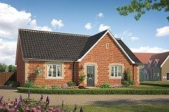 Thumbnail 3 bed detached bungalow for sale in Broomfield Road, Stoke Holy Cross