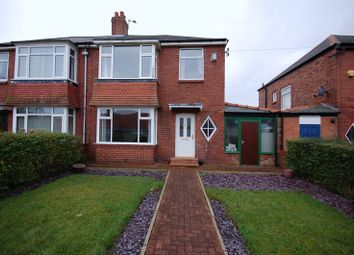 Thumbnail 3 bed semi-detached house for sale in Cambridge Avenue, Forest Hall, Newcastle Upon Tyne