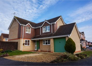 Thumbnail 4 bed detached house for sale in Westfield Way, Peterborough