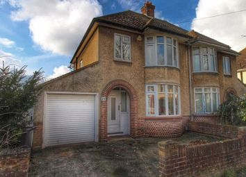 Thumbnail 3 bed semi-detached house to rent in Byron Crescent, Bedford