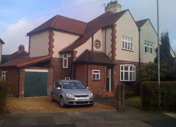 Thumbnail 3 bed semi-detached house to rent in Ruabon Road, East Didsbury, Didsbury, Manchester