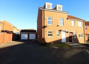 Thumbnail 3 bed semi-detached house for sale in Russell Close, Wallsend