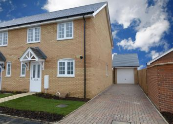 Thumbnail 3 bed semi-detached house to rent in Silfield Road, Wymondham