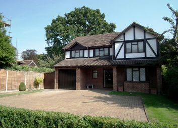 Thumbnail 4 bed detached house to rent in Burwood Park Road, Hersham, Walton-On-Thames