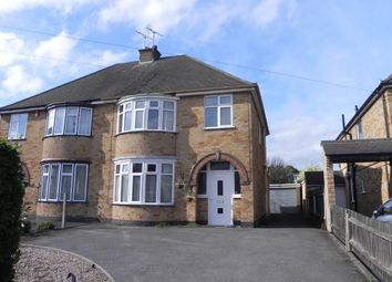 Thumbnail 3 bed semi-detached house for sale in Moat Street, Wigston, Leicester, Leicestershire