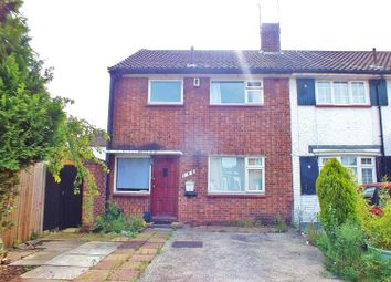 Thumbnail 3 bed end terrace house to rent in Ryefield Avenue, Hillingdon, Middlesex