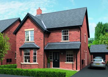Thumbnail 4 bed detached house for sale in Rushgreen Road, Lymm