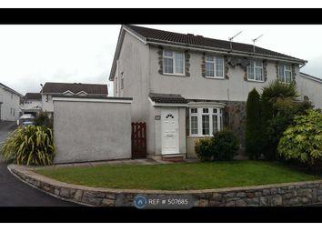 Thumbnail 3 bedroom semi-detached house to rent in Ty Gwyn Drive, Bridgend