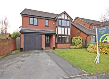 Thumbnail 4 bed detached house for sale in Amberleigh Close, Appleton Thorn, Warrington