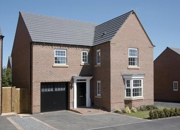 "Thumbnail 4 bed detached house for sale in ""Exeter"" at Tamora Close, Heathcote, Warwick"