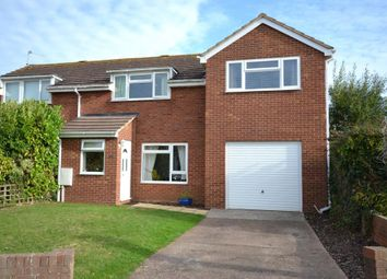 Thumbnail 3 bedroom semi-detached house for sale in Hooker Close, Budleigh Salterton, Devon