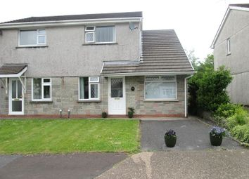 Thumbnail 3 bed semi-detached house for sale in Clos Glanlliw, Pontlliw, Swansea, West Glamorgan.