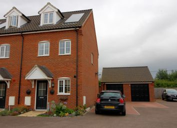 Thumbnail 3 bedroom end terrace house for sale in Carpenter Close, Wymondham