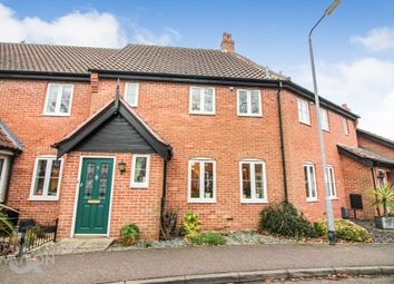 Thumbnail 2 bedroom terraced house for sale in Blackthorn Way, Poringland, Norwich