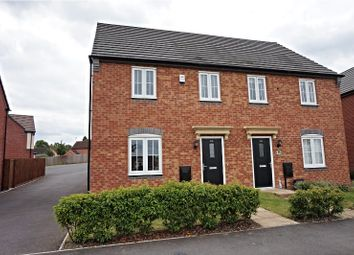 Thumbnail 3 bed semi-detached house for sale in Crimson Way, Hinckley