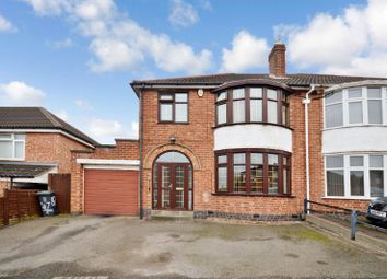 Thumbnail 3 bedroom semi-detached house for sale in Lamborne Road, West Knighton, Leicester