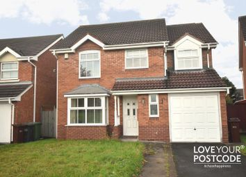 Thumbnail 4 bedroom detached house to rent in Calver Crescent, Wednesfield, Wolverhampton