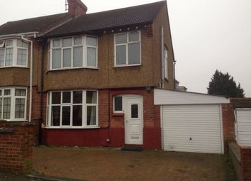 Thumbnail 3 bed semi-detached house to rent in Blenheim Crescent, Luton
