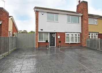 Thumbnail 3 bed semi-detached house for sale in Elwin Avenue, Wigston