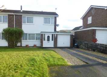 Thumbnail 3 bed semi-detached house for sale in Fforest Fach, Tycroes, Ammanford, Carmarthenshire.
