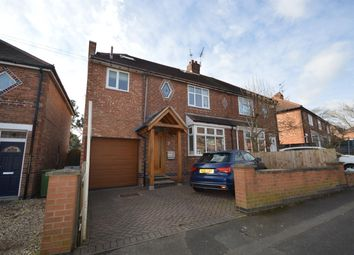 Thumbnail 4 bed semi-detached house for sale in Clarence Road, Enderby, Leicester