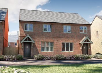 "Thumbnail 3 bedroom semi-detached house for sale in ""The Studland"" at Roman Road, Bobblestock, Hereford"