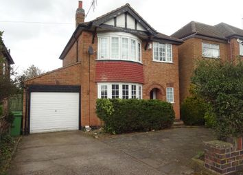 Thumbnail 3 bed detached house for sale in Uppingham Road, Thurnby, Leicester
