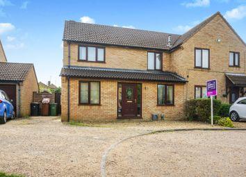 Thumbnail 4 bed semi-detached house for sale in Stonebridge Lea, Peterborough