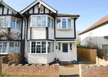 Thumbnail 3 bed semi-detached house for sale in Devon Road, Hersham, Walton-On-Thames, Surrey