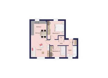 Thumbnail 2 bed flat for sale in Isabel Drive, Bishop's Stortford