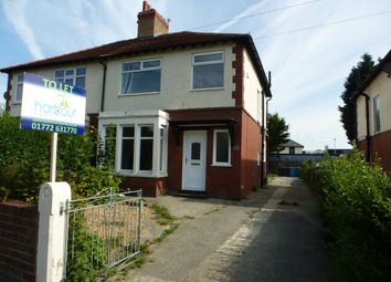 Thumbnail 3 bed semi-detached house to rent in Lytham Road, Warton, Preston