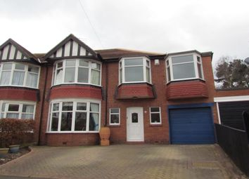 Thumbnail 4 bedroom semi-detached house for sale in Polwarth Crescent, Gosforth, Newcastle Upon Tyne