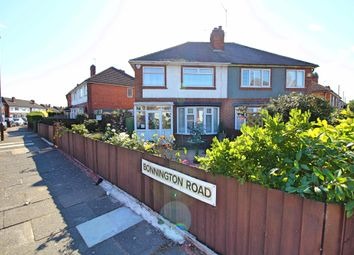 Thumbnail 3 bed semi-detached house for sale in Bonnington Road, Leicester