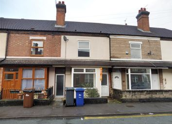 Thumbnail 3 bed terraced house to rent in Wyggeston Street, Burton On Trent, Staffordshire