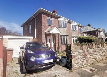 Thumbnail 3 bed semi-detached house for sale in Effingham Crescent, Hartley, Plymouth