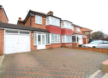 Thumbnail 3 bedroom semi-detached house to rent in Crowshott Avenue, Stanmore