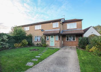 Thumbnail 4 bed semi-detached house for sale in Chapel Road, Weston Colville, Cambridge