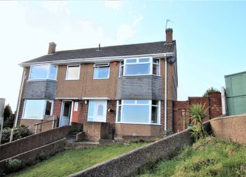 Thumbnail 3 bed semi-detached house for sale in Castleton Close, Mannamead, Plymouth
