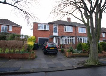 Thumbnail 4 bed semi-detached house for sale in Cranbrook Avenue, Gosforth, Newcastle Upon Tyne