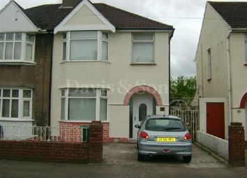 Thumbnail 3 bed semi-detached house to rent in Mendalgief Road, Newport, Newport.
